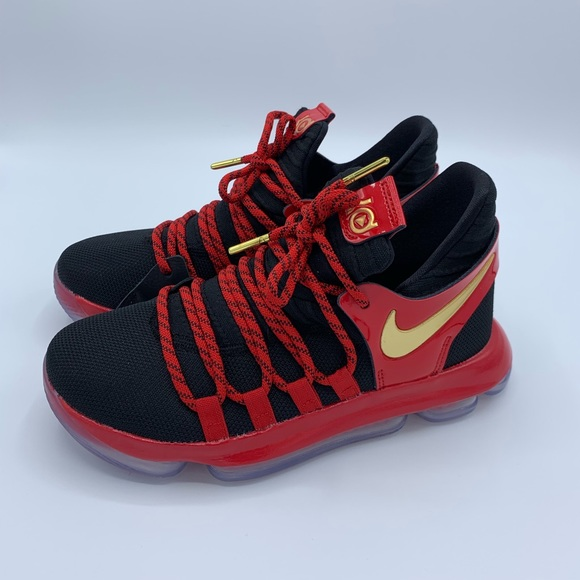 the best attitude ec864 05859 Big boys size 4 Nike KD (Kevin Durant) 10 Bred